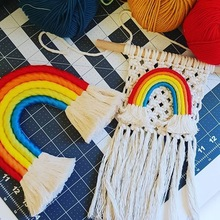 Decoration Nordic Style Home Children's Room Decoration Hand-woven Rainbow Ornaments Wall Hangings Ornaments