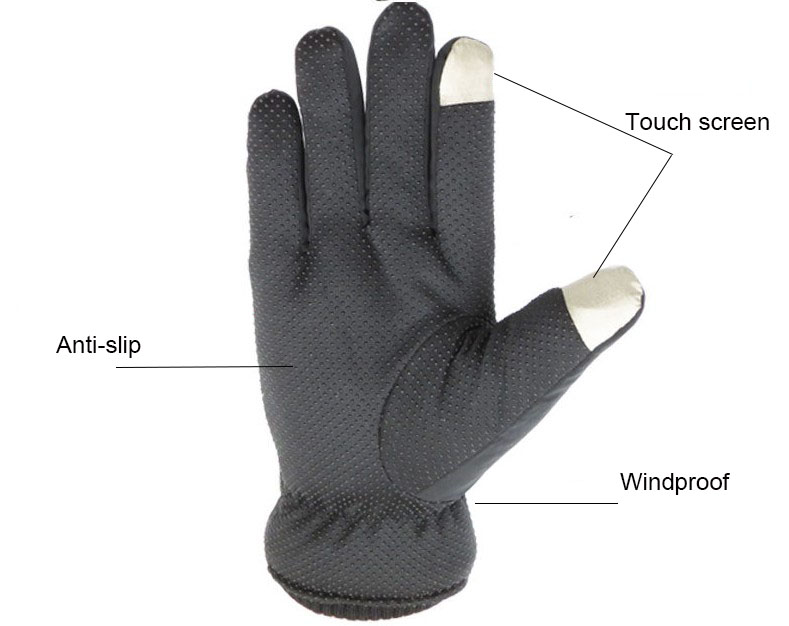 Men Warm Gloves 2019 Winter Anti slip Waterproof Ski Gloves Male Touch Screen Mittens Thickening Cotton Gloves for Men Guantes in Men 39 s Gloves from Apparel Accessories