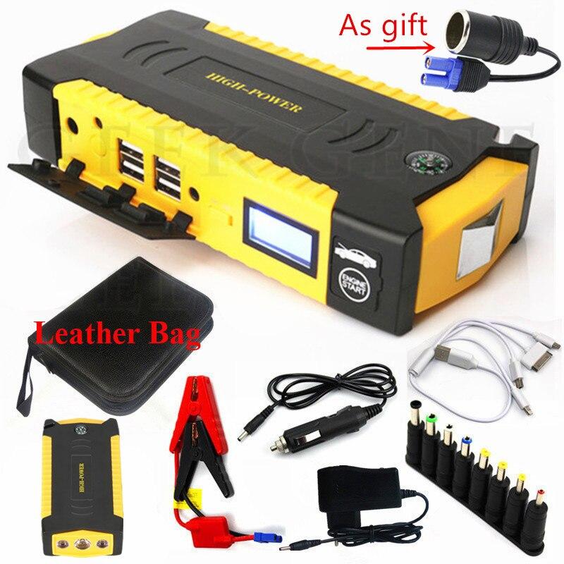 Multi-fonction 16000 mAh dispositif de démarrage chargeur de batterie de voiture 600A Portable démarreur de batterie 12 V chargeur pour voiture Booster de batterie CE