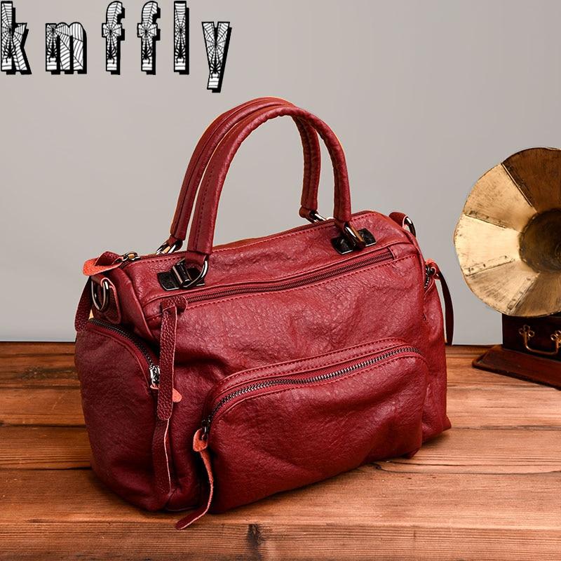 KMFFLY Women Bag Handbags Messenger-Bags Sacs Luxury Brand Fashion PU