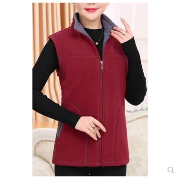 2020 outono inverno colete de meia-idade feminino plus size casaco de lã quente das mulheres gola de pé vintage feminino 5xl lm89