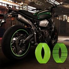 Светоотражающие мотоциклетные наклейки, 10, 12, 14, 16, 18 дюймов, для Honda, Yamaha, Kawasaki, Suzuki