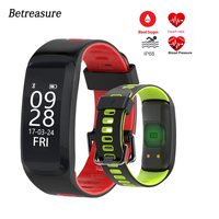 Betreasure F4 Smart Wristband Blood Pressure Heart Rate Monitor Bluetooth Fitness Bracelet Sport IP68 Swimming GPS