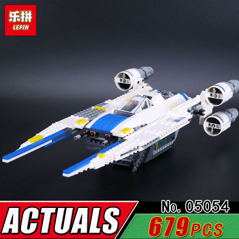 LEPIN 05054 Star Series The U-Fighter Wing Model Bricks Compatible 75155 Building Blcok Child Military War Toy Educational Gift lepin 05040 y attack starfighter wing building block assembled brick star series war toys compatible with 10134 educational gift