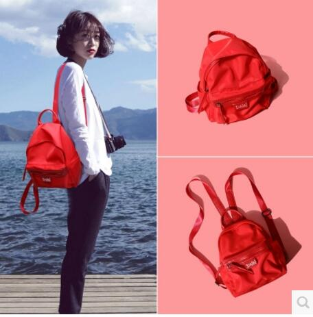 Backpack nylon female tide new Korean college students campus wind all-match female fashion  backpack  bags disigne Schoolbag