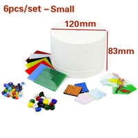 10pcs/set Stained Glass Fusing Supplies DIY Kit Professional Microwave Kiln Kit Tool Set Ceramic Accessories Supplies