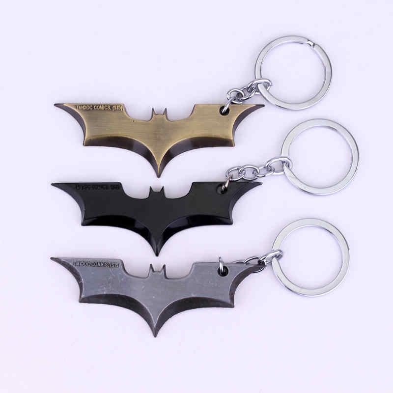 MQCHUN DC Comics Superhero Batman Keychain Men Trinket Super Hero Marvel Spiderman Car Key Chain Chaveiro Key Ring Holder Gift