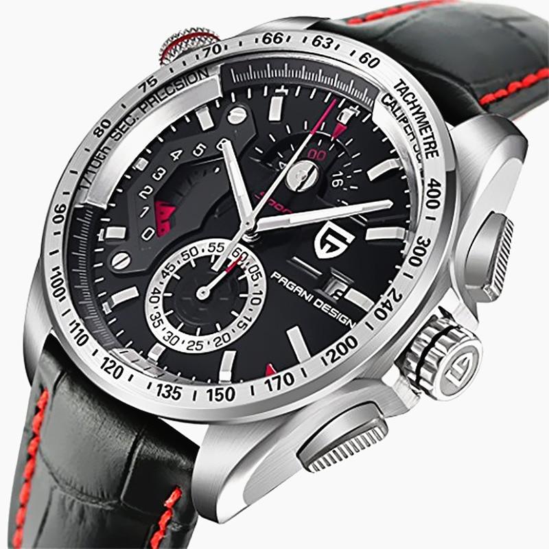 PAGANI DESIGN Waterproof Outdoor Calendar Chronograph Sports Leather & Stainless Steel Quartz Men's Watches Relogio Masculino все цены