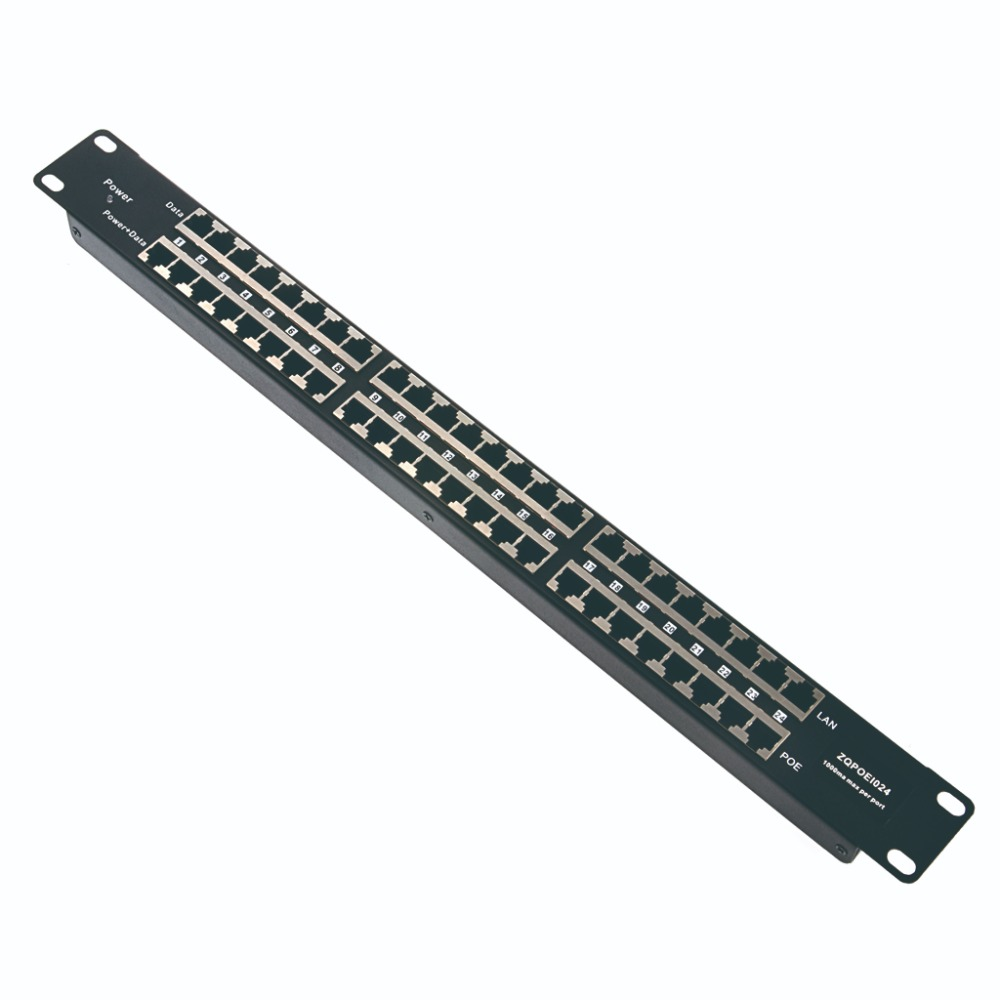 24 Port POE Injector Passive POE Patch Panel power 24 10 100 devices from one supply