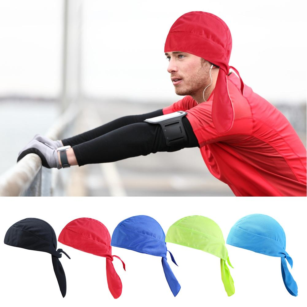 Cycling Cap Headscarf Pirate Hat Breathable Head Scarf Quick Drying Motorcycle Bandana Sweat For Riding Running Headband Hats in Cycling Caps from Sports Entertainment