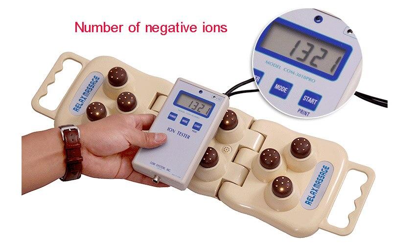 Health Care Electric Jade germanium stone massage balls Foldable Natural Tourmaline Far Infrared Heat Mat Back Neck Pillow