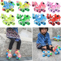 Brand New Children Roller Skates Double Row 4 Wheels Adjustable Size Skating Shoes Sliding Slalom Inline Skates Kids Gifts