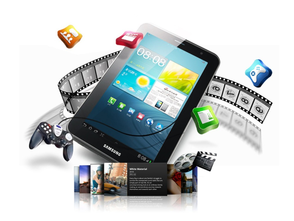Samsung Galaxy Tab 2 7.0 inch P3100 3G+WIFI Tablet PC 1GB RAM 8GB ROM Dual Core 4000mAh 3.0MP Camera Android Tablet