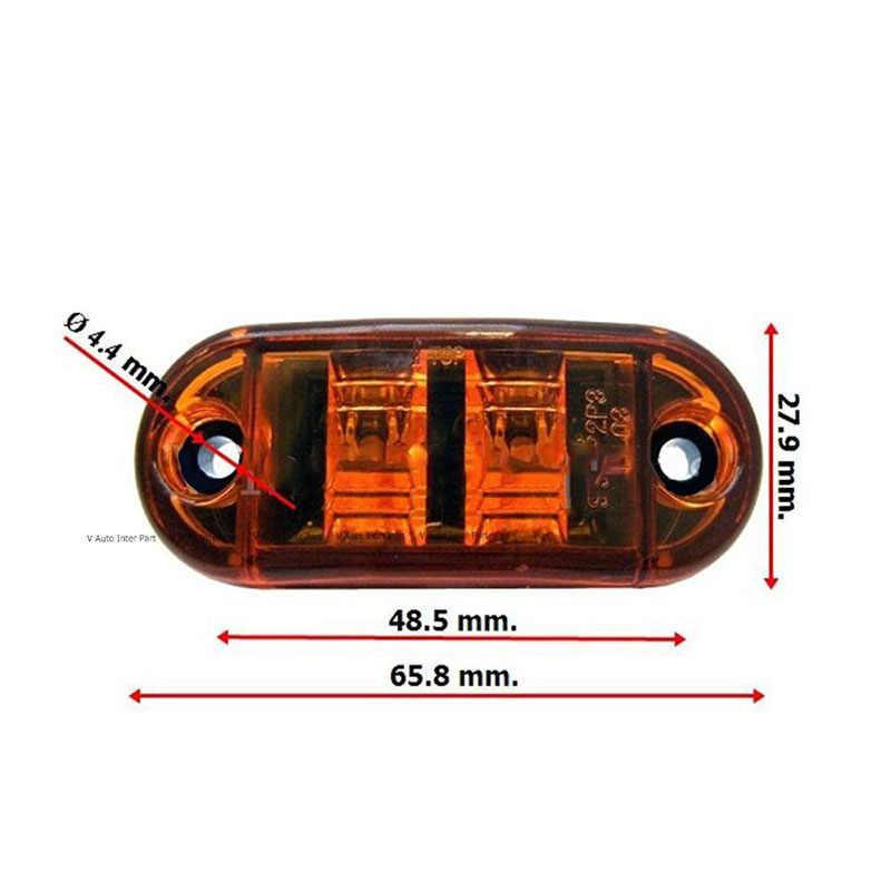 10 piezas amarillo luz remolque lámparas 12V 24V amarillo camión remolque luz de giro LED marcador de la lámpara 20 piezas tornillos