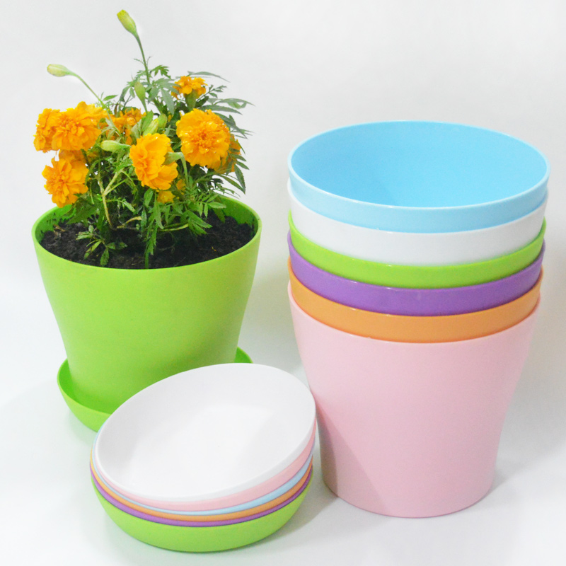 Indoor Outdoor Garden Plant Flower Pot Balcony Plastic Planter Patio Home  Decor FlowerPots(China (