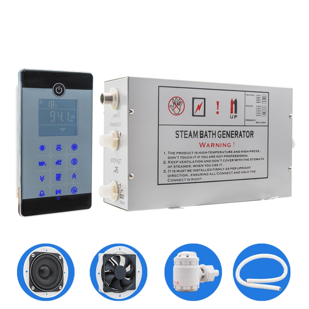 AC 220V 2 8KW Floor Mounted Type LCD Touch Screen Steam Sauna Spa Room Control Temperature