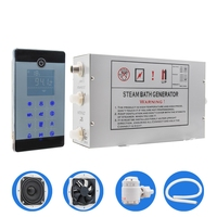 1Set AC 110V 220V 3KW Floor Mounted Type LCD Touch Screen Steam Sauna Spa Room Control Temperature Sensor Shower Cabin Generator