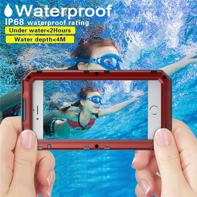 Metal Aluminum waterproof case for iphone 7plus (41)