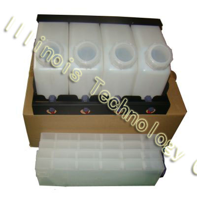 Mimaki Bulk Ink System with Vertical Cartridges--4 Bottles, 4 Cartridges printer parts good quality 4 with 4 bulk iink supply system ink tanksupply system for mimaki roland mutoh eco solvent printer machine
