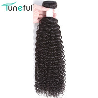 Tuneful Malaysian Curly Weave Human Hair Bundles 1 Pc 100% Remy Hair Weft Bundle Full Bouncy Hair Extensions