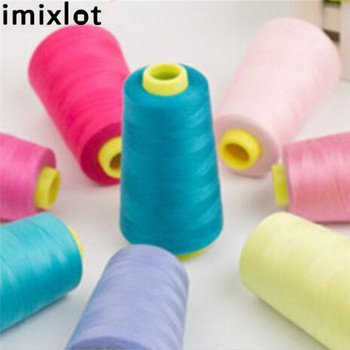 Imixlot 3000m Sewing Thread Machine Embroidery Industrial Polyester Spools Metre Cones Shoes Clothing Repair Tools Accessories image