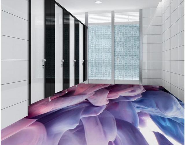 Rook effect patroon woonkamer badkamer met 3D vloeren 3d behang pvc ...