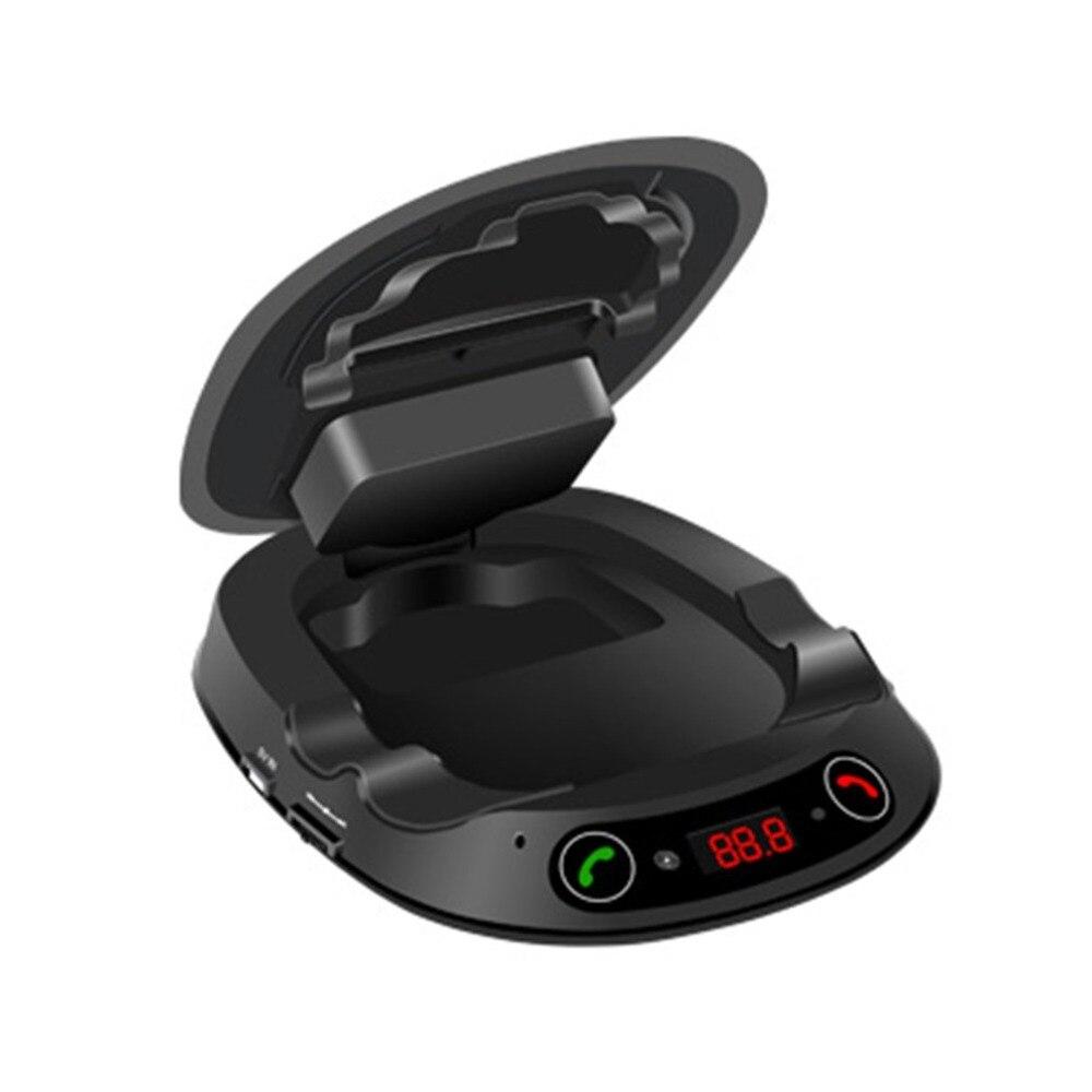 Support de Téléphone de voiture Smart Bluetooth Mains Libres TF MP3 Musique Jouer Sucker Voiture Center Console Smartphone Mont Stand pour iPhone