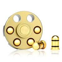 Fidget Spinner Cowboy Revolver Fidget Hand Spinner EDC Focus ADHD Autism Brass Dsek Toy Finger Spinner