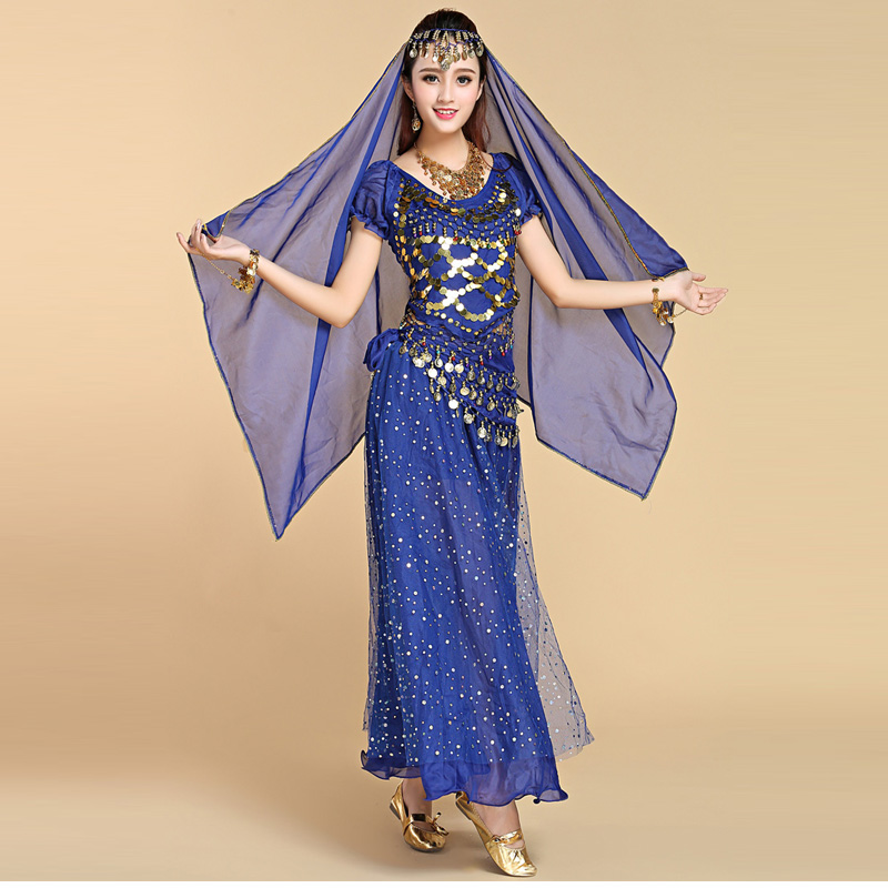 4Pcs Set Performance Adult Belly Dance Costume Sets -6641
