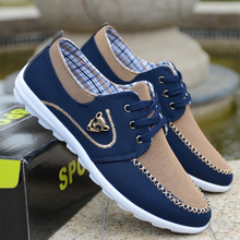 2019 Fashion Canvas Men Shoes Mixed Colors Lace-Up Casual New  Breathable Male Footwear
