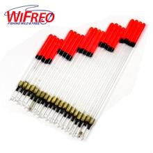 Wifreo 20PCS/Set Clear Plastic Fishing Float Carp / Coarse Fishing Floats Tube Mix Sizes