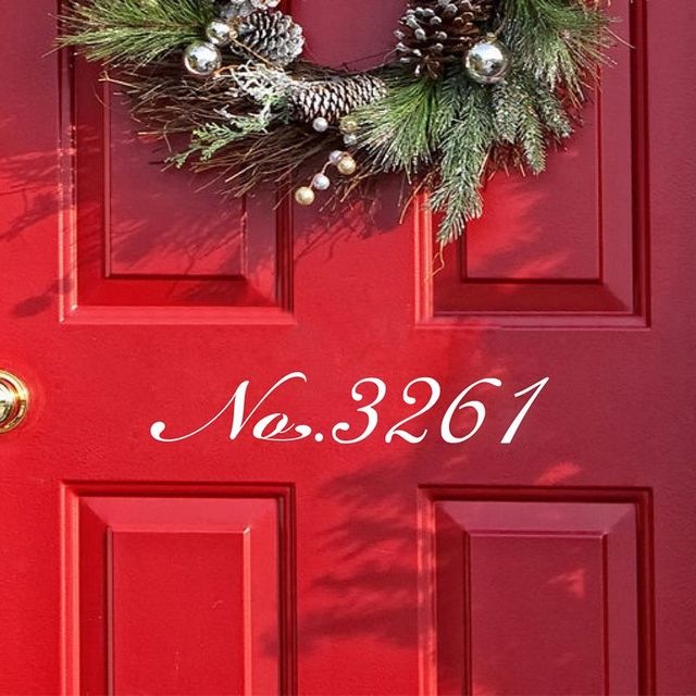 Free Shipping Housewares Front Door Number Removable VINYL Street Numbers  Sticker , Customization House Number Vinyl