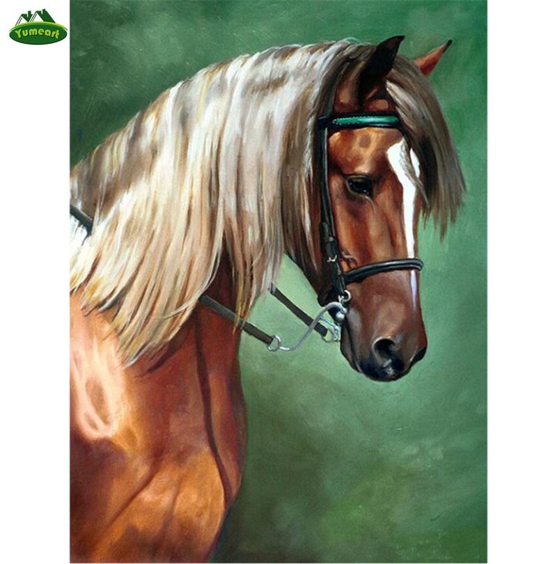 Diamond Embroidery Brown Horse Animals Melancholy Horse Diamond Painting Cross Stitch Crafts Mosaic Full Rhinestone Home Decor