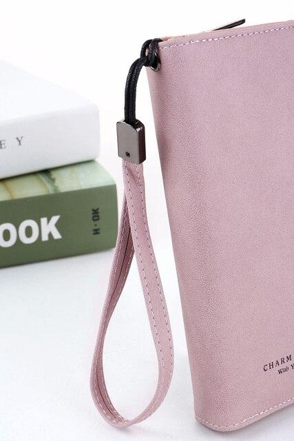 Women Wallets Fashion Lady Wristlet Handbags Long Money Bag Zipper Coin Purse Cards ID Holder Clutch Woman Wallet Purse Notecase 4