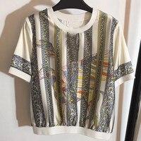 2019 летние женские футболки, топы короткие футболка женские водонепроницаемые Мокасины блузка с изображением якорей хлопок женский футболк