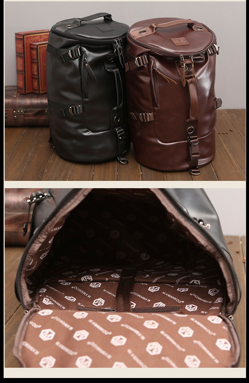 Men's Multi-Functional Backpack Vintage Shoulder Bag High Quality Canvas Male Bagpack Rucksack Travel Luggage for Weekend 30