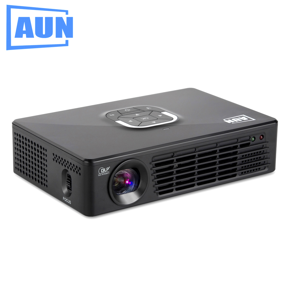 Aun projector 2200 lumens 1280 800 kz10 dlp portable for Highest lumen pocket projector