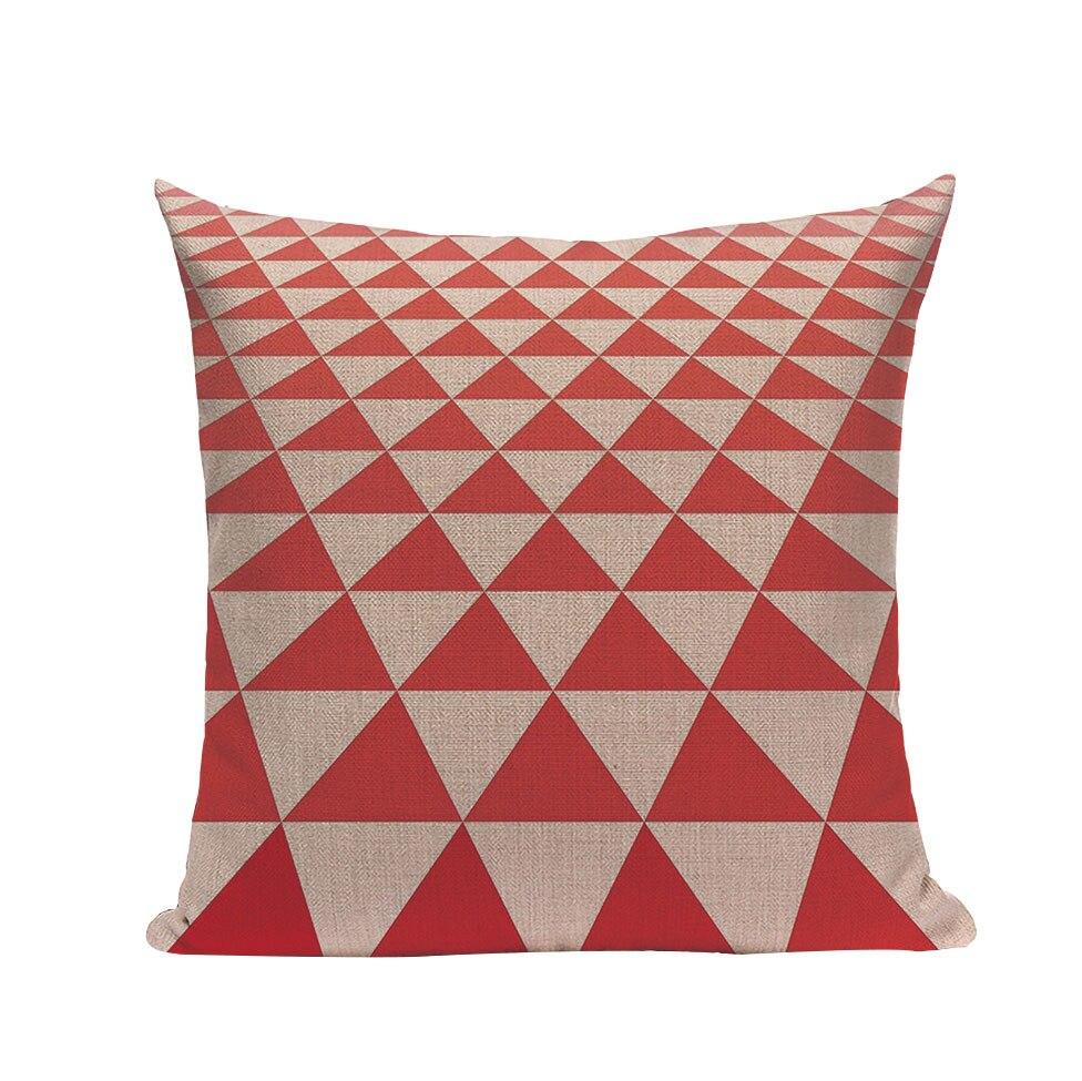 Aitliving Oreillers Coussins Housse en toile coton 1 pc abstrait géométrique dessin
