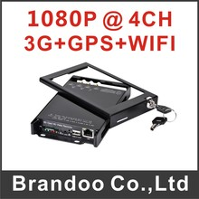 4ch 1080P MDVR with 3G+GPS function for live monitoring, SD or HDD type selectable from Brandoo