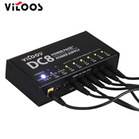 Guitar Effect Pedals Power Supply Eight Isolated Output 6Way DC 9V 2 Way 9v 12v 18vSwitching