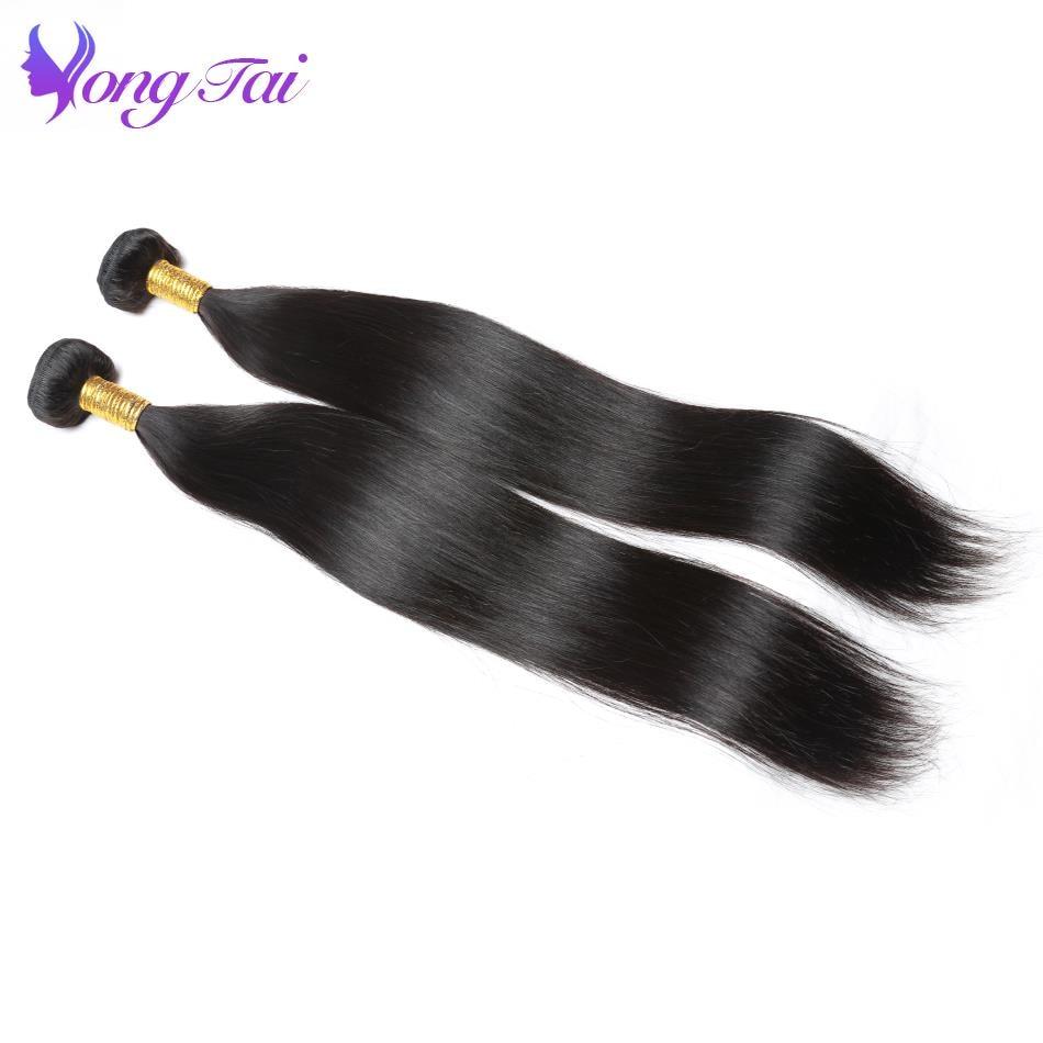 Yongtai Hair Brazilian Straight Human Hair Two Bundles Hair Weave Bundles 8-30inch Natural Black Free Shipping Non Remy Hair