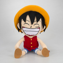 anime one piece plush toy dolls smile luffy doll soft stuffed toys 30cm gifts cute cartoon figure цена