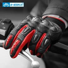Профессиональные перчатки для мотоциклов мужские защитные Руки полный палец мото перчатки сенсорный экран горные Велоспорт гоночные кожаные перчатки