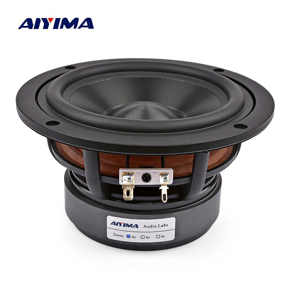 AIYIMA 5.25 pouces Audio médiums haut-parleurs graves 60 W 30 Core Woofer Hifi musique haut-parleur pour bibliothèque Home cinéma système de son