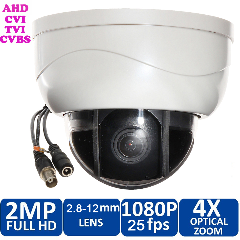 1080P HD 2MP AHD//CVI//TVI//CVBS 4-in-1 Dome PTZ Camera 4X Optical Zoom NightVision