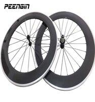 carbon alloy clincher G3 wheels aluminum brake suface Road 700c rim alloy 90X23mm novatec R13 r36 straight pull hub Pillar spoke