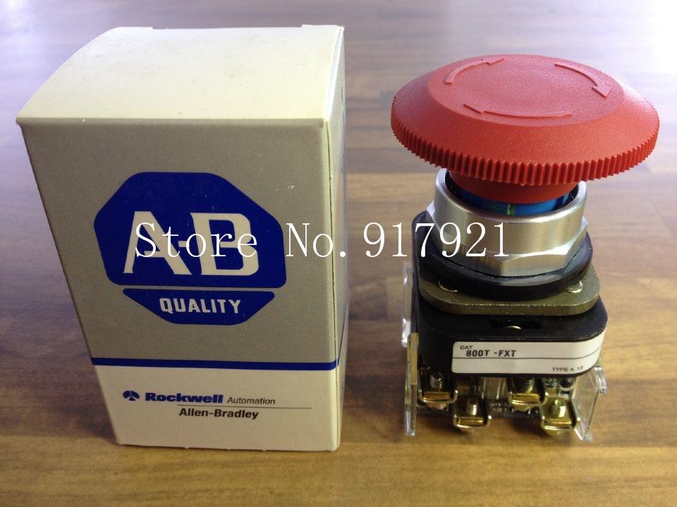 [ZOB] The original American A-B Rockwell 800T-FXT high power 15A mushroom self-locking button stop knob authentic original american rockwell photoelectric a b 42 kl u2lb f4 low priced sales