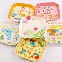 Melamine Creative Cartoon Animal Dessert Small Plate Children Square Bread Small Tray 14.8x2CM6x1IN Household Snack Tray