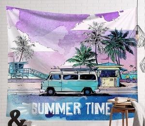 Image 4 - CAMMITEVERฤดูร้อนชายหาดกีฬาSurf BoardแขวนผนังTapestries Blue Skyตกแต่งโยคะเสื่อ
