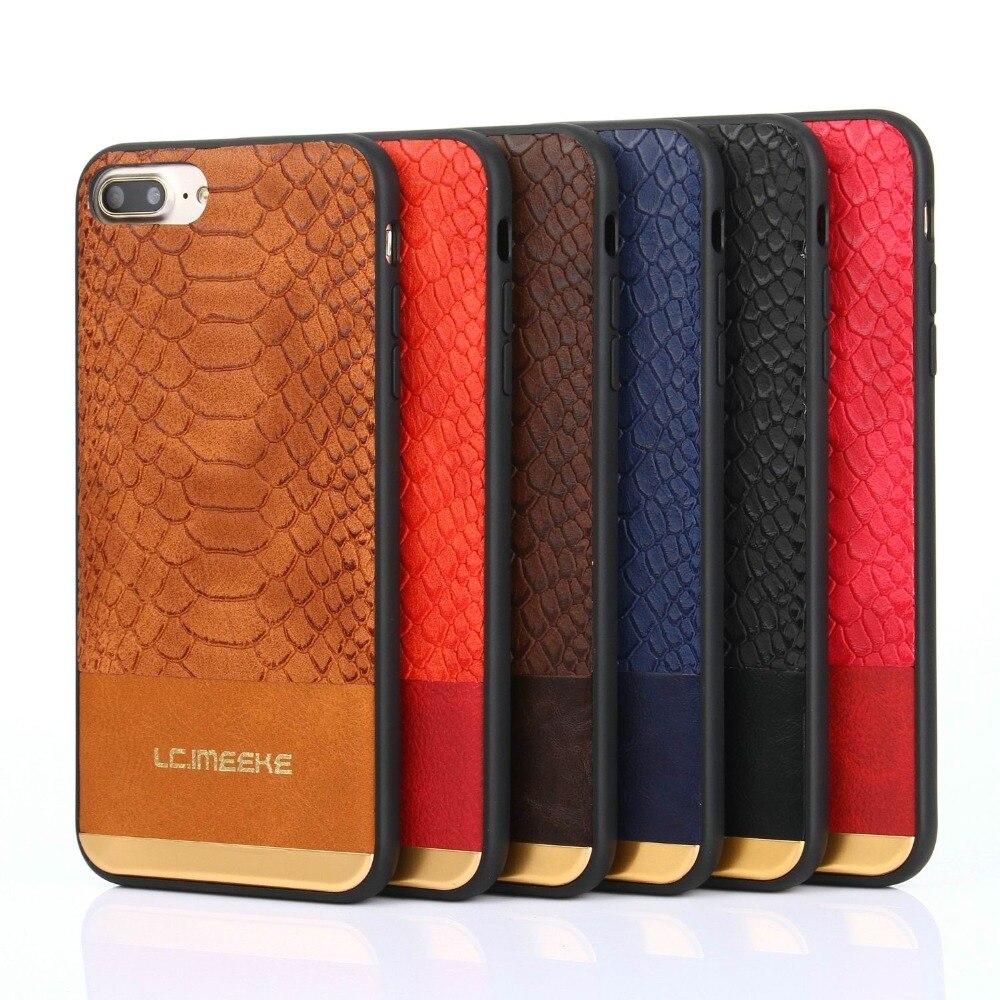 Case For Apple iPhone 7/7 Plus/6/6s Plus/5/5s Back Cover crocodile grain PU leather Soft phone Case funda For iPhone 5 6 7 Plus